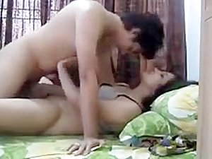 Desi three red saree sexy wife honeymoon
